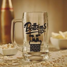 Bottoms Up Santa Beer Mug