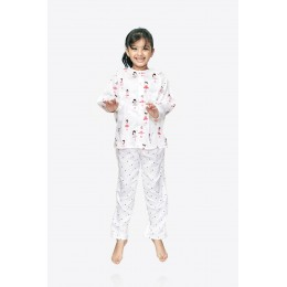 Pink Girl Print Pure-cotton Nightsuit