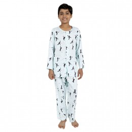 Cricket print Pure-cotton Nightsuit