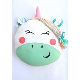 Green Unicorn Cushion