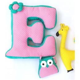 Alphabet 'E' Cushion