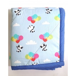 Pure Cotton Panda With Balloons Quilt