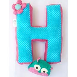 Alphabet 'H' Cushion