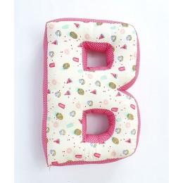 Alphabet 'B' Cushion