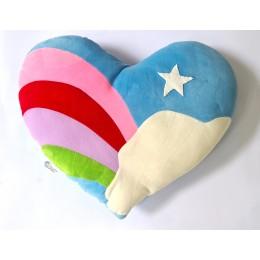 Colorful Plush Heart Cushion