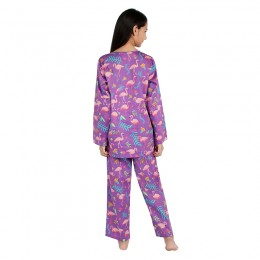 Flamingo (Purple) Print Pure-cotton Nightsuit