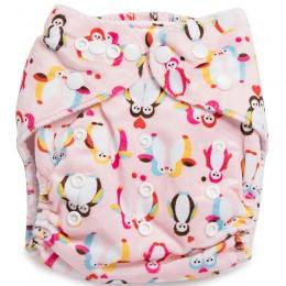 Baby Penguins Reusable Velvet Cloth Diaper