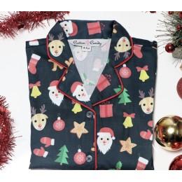 Black Little Santa Nightsuit