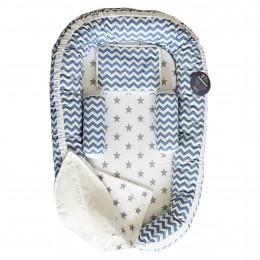 Blue Chevron Baby Nest