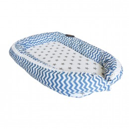 Blue Chevron Baby Nest