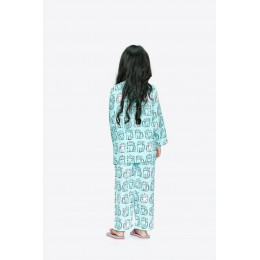 Cats Print Pure-cotton Nightsuit