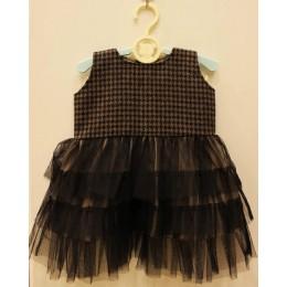 COLE : Black tweed Dress and Jacket Set
