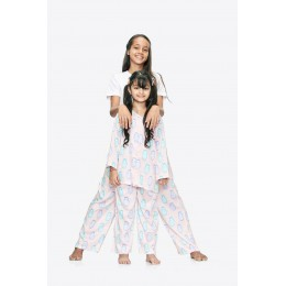 Dolls Print Pure-cotton Nightsuit