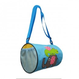 Elephant Croco Blue Duffle Bag