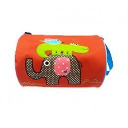 Elephant Croco Orange Duffle Bag