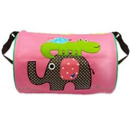 Elephant Croco Pink Duffle Bag