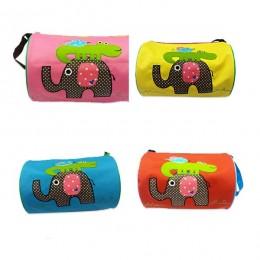 Elephant Croco Yellow Duffle Bag