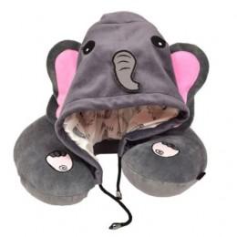 Elephant Hooded Neck Pillow