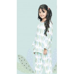 Foliage Print Pure-cotton Nightsuit