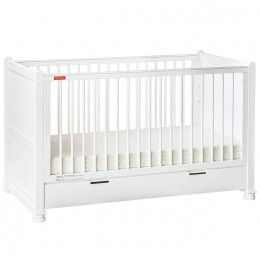 Georgia Baby Crib Cum Toddler Bed with Mattress White