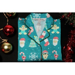 Green Christmas Santa Nightsuit