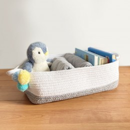 Grey Cotton Rope - Hamper Basket