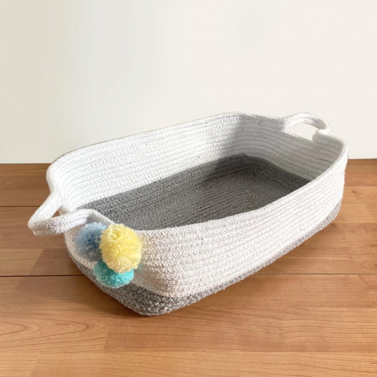 Grey Cotton Rope - Hamper Basket