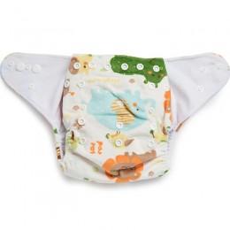 Lions & Elephants Reusable Velvet Cloth Diaper