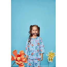Mermaid Print Pure-cotton Nightsuit