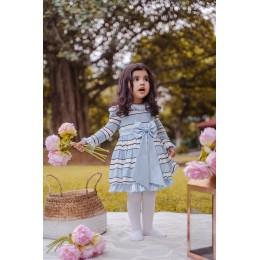 Old Rose Summer Dress - Blue