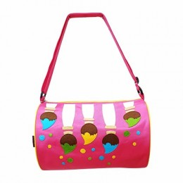 Paint Brushes Pink Duffel Bag
