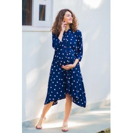 Persian Polka Maternity & Nursing Dress