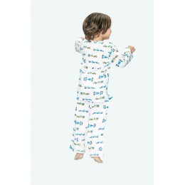 Racing Car Print Pure-cotton Nightsuit
