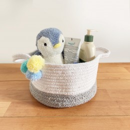 Small Grey Cotton Rope Baskets