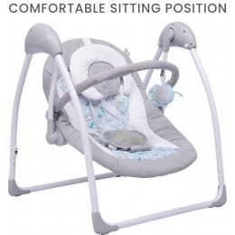 The Playful Automatic Baby Swing Grey Blue