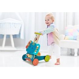 Wooden Blue Elephant Walker for Toddlers
