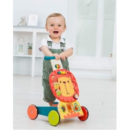 Wooden Yellow Lion Walker for Toddlers
