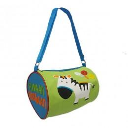 Zebra Green Duffle Bag