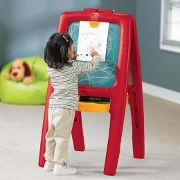 Easel for Two Red