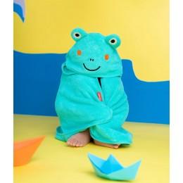 Rabitat Super Soft Zero Twist Hooded Bath Towel - Frog