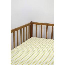 Cot/Crib sheet- Leaf (Yellow)