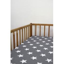 Cot/Crib sheet- Big Star (Grey)