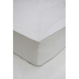 Cot/Crib sheet- Chevron (Grey)