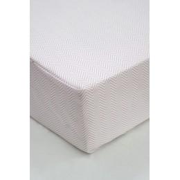 Cot/Crib sheet- Chevron (Pink)
