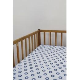 Cot/Crib sheet- Circle Star (Blue)