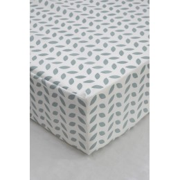 Cot/Crib sheet- Leaf (Mint)
