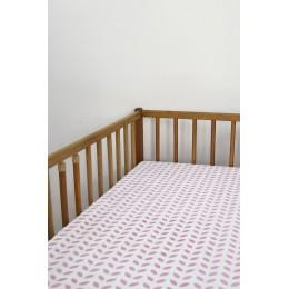 Cot/Crib sheet- Leaf (Pink)