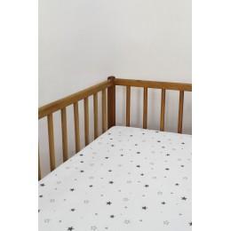 Cot/Crib sheet- Mini Star (Grey)