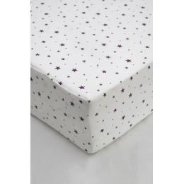 Cot/Crib sheet- Mini Star (Purple)