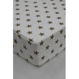 Cot/Crib sheet- Small Star (Beige)